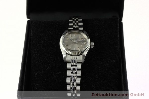 Used luxury watch Rolex Lady Date steel / white gold automatic Kal. 2030 Ref. 6917  | 142679 07