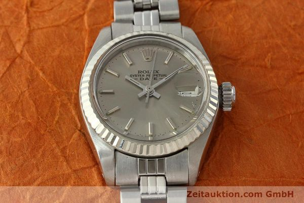 Used luxury watch Rolex Lady Date steel / white gold automatic Kal. 2030 Ref. 6917  | 142679 16