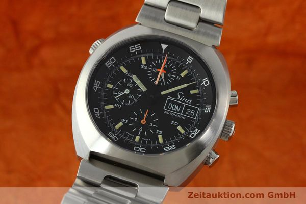 Used luxury watch Sinn D1 Mission chronograph steel automatic Kal. Lemania 5100  | 142681 04