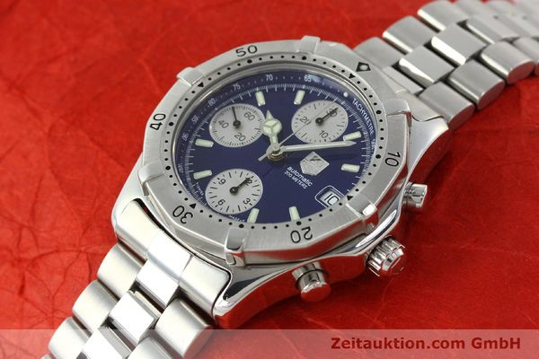 Used luxury watch Tag Heuer Professional chronograph steel automatic Kal. Eta 7750 Ref. CK2111  | 142685 01