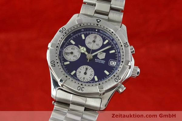 Used luxury watch Tag Heuer Professional chronograph steel automatic Kal. Eta 7750 Ref. CK2111  | 142685 04