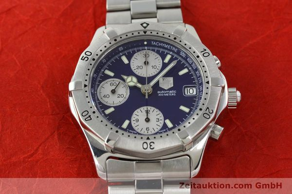 Used luxury watch Tag Heuer Professional chronograph steel automatic Kal. Eta 7750 Ref. CK2111  | 142685 14