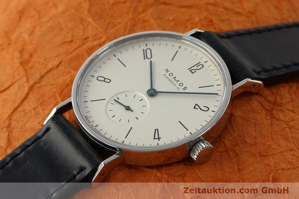 Used luxury watch Nomos Tangente steel manual winding Kal. ETA 7001  | 142687 01