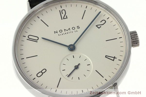 Used luxury watch Nomos Tangente steel manual winding Kal. ETA 7001  | 142687 02