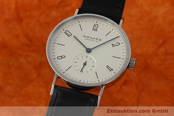 Used luxury watch Nomos Tangente steel manual winding Kal. ETA 7001  | 142687 04