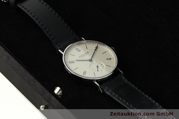 Used luxury watch Nomos Tangente steel manual winding Kal. ETA 7001  | 142687 07