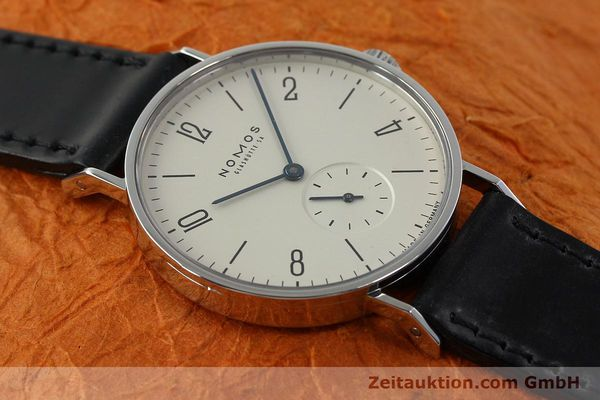 Used luxury watch Nomos Tangente steel manual winding Kal. ETA 7001  | 142687 14