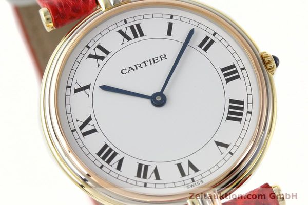 Used luxury watch Cartier * 18 ct gold quartz Kal. 690  | 142691 02
