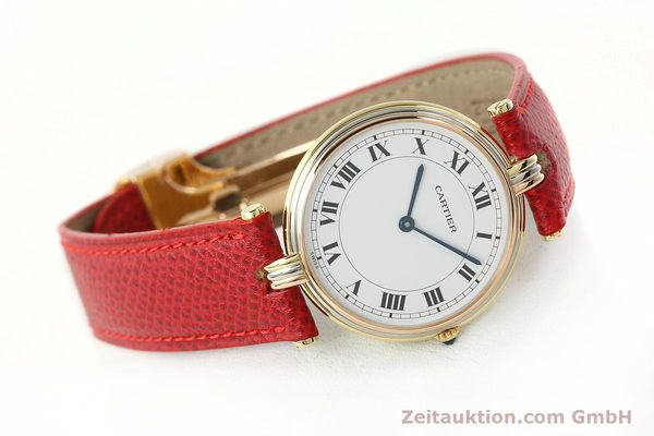 Used luxury watch Cartier * 18 ct gold quartz Kal. 690  | 142691 03