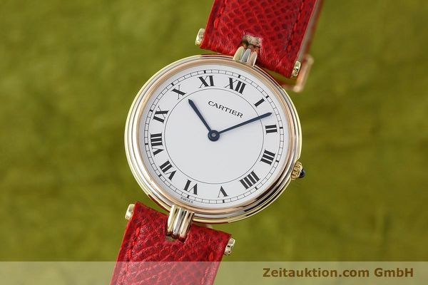 Used luxury watch Cartier * 18 ct gold quartz Kal. 690  | 142691 04