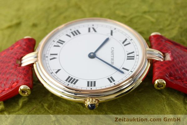 Used luxury watch Cartier * 18 ct gold quartz Kal. 690  | 142691 05