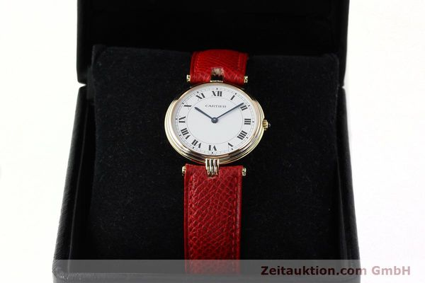 Used luxury watch Cartier * 18 ct gold quartz Kal. 690  | 142691 07