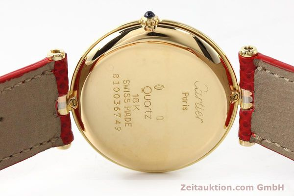 Used luxury watch Cartier * 18 ct gold quartz Kal. 690  | 142691 09