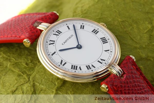 Used luxury watch Cartier * 18 ct gold quartz Kal. 690  | 142691 13