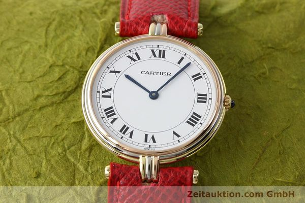 Used luxury watch Cartier * 18 ct gold quartz Kal. 690  | 142691 14