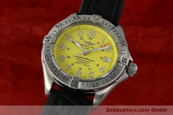 Used luxury watch Breitling Superocean steel automatic Kal. B17 ETA 2824-2 Ref. A17045  | 142693 04