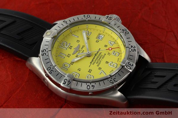 Used luxury watch Breitling Superocean steel automatic Kal. B17 ETA 2824-2 Ref. A17045  | 142693 17