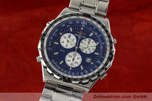 Used luxury watch Breitling Jupiterpilot chronograph steel quartz Kal. B233 Ref. A59028  | 142696 04