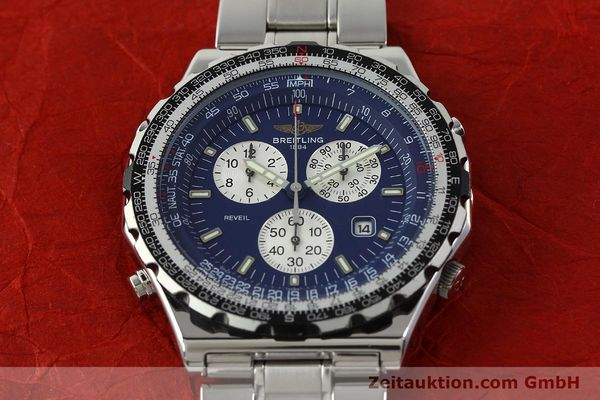 Used luxury watch Breitling Jupiterpilot chronograph steel quartz Kal. B233 Ref. A59028  | 142696 15