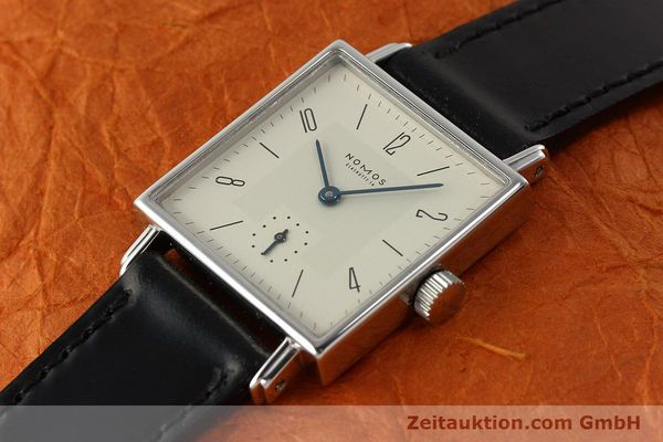 Used luxury watch Nomos Tetra steel manual winding Kal. ETA 7001  | 142697 01