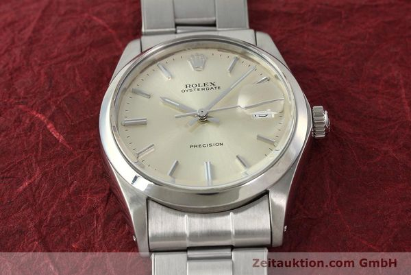Used luxury watch Rolex Precision steel manual winding Kal. 1225 Ref. 6694  | 142699 16