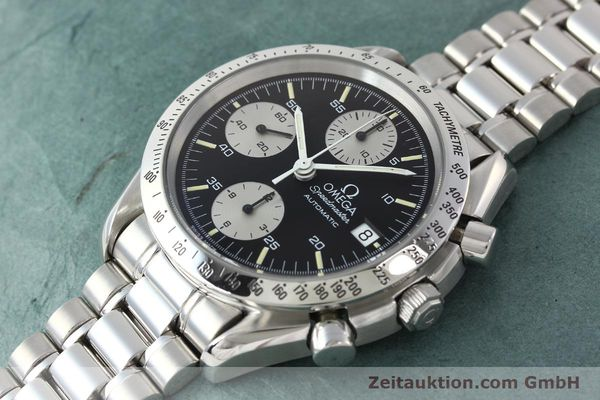 Used luxury watch Omega Speedmaster chronograph steel automatic Kal. 1155 ETA 7750  | 142708 01