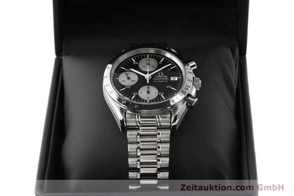 Used luxury watch Omega Speedmaster chronograph steel automatic Kal. 1155 ETA 7750  | 142708 07