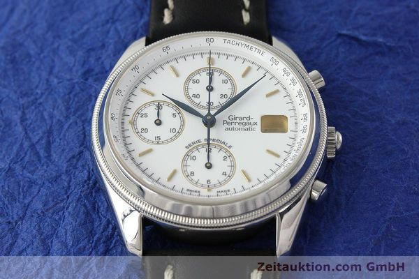 Used luxury watch Girard Perregaux Olimpico chronograph steel automatic Kal. 8000 214 LIMITED EDITION | 142713 13