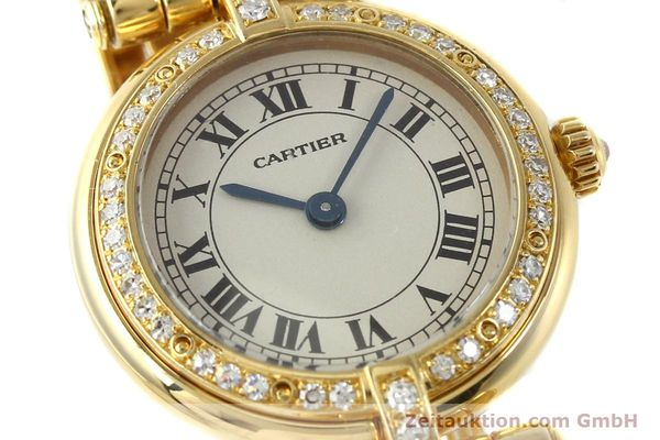Used luxury watch Cartier Panthere 18 ct gold quartz Kal. 157  | 142716 02