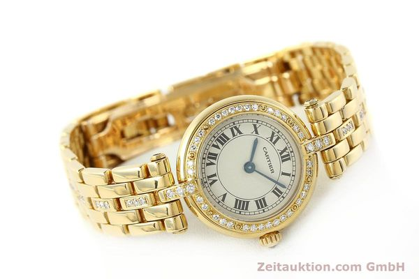 Used luxury watch Cartier Panthere 18 ct gold quartz Kal. 157  | 142716 03