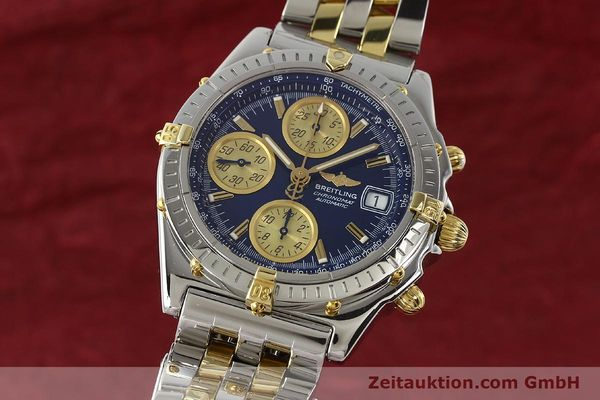 Used luxury watch Breitling Chronomat chronograph steel / gold automatic Kal. B13 ETA 7750 Ref. B13050.1  | 142717 04