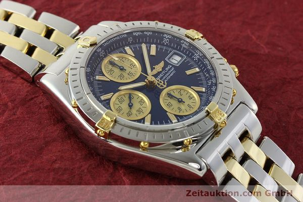 Used luxury watch Breitling Chronomat chronograph steel / gold automatic Kal. B13 ETA 7750 Ref. B13050.1  | 142717 16
