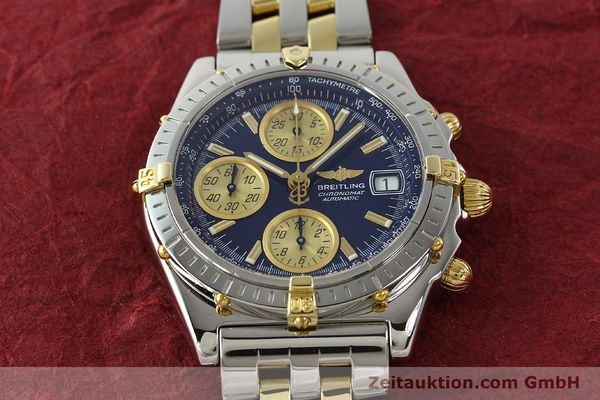 Used luxury watch Breitling Chronomat chronograph steel / gold automatic Kal. B13 ETA 7750 Ref. B13050.1  | 142717 17