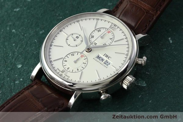 Used luxury watch IWC Portofino chronograph steel automatic Kal. 75320 Ref. 3910  | 142718 01