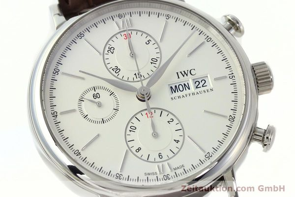 Used luxury watch IWC Portofino chronograph steel automatic Kal. 75320 Ref. 3910  | 142718 02