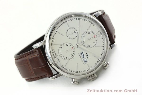 Used luxury watch IWC Portofino chronograph steel automatic Kal. 75320 Ref. 3910  | 142718 03