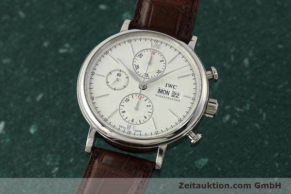 Used luxury watch IWC Portofino chronograph steel automatic Kal. 75320 Ref. 3910  | 142718 04
