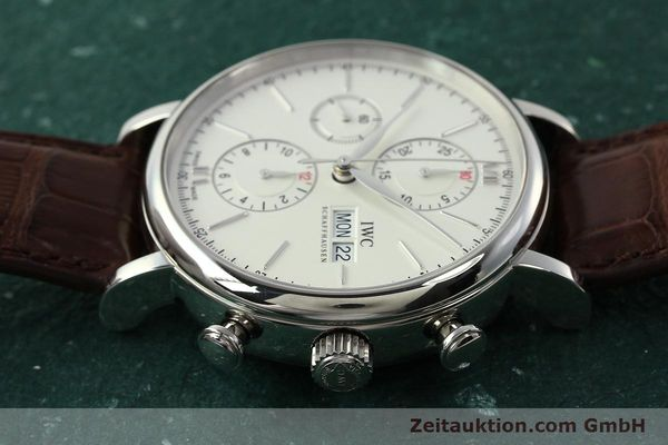 Used luxury watch IWC Portofino chronograph steel automatic Kal. 75320 Ref. 3910  | 142718 05