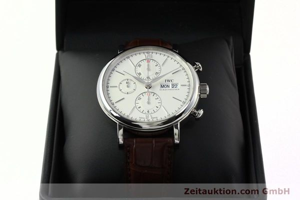 Used luxury watch IWC Portofino chronograph steel automatic Kal. 75320 Ref. 3910  | 142718 07
