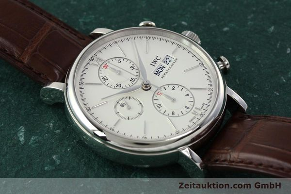 Used luxury watch IWC Portofino chronograph steel automatic Kal. 75320 Ref. 3910  | 142718 15
