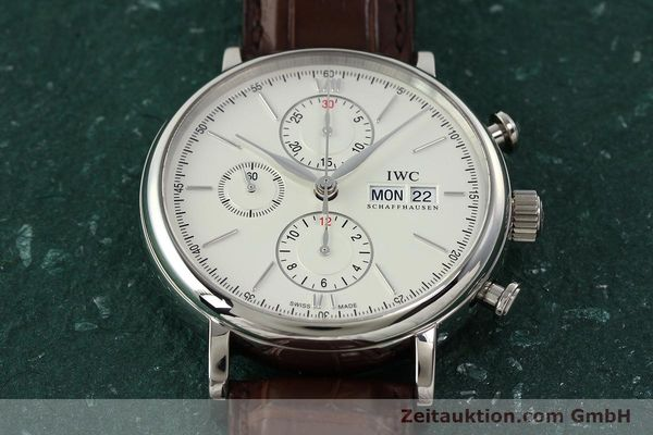 Used luxury watch IWC Portofino chronograph steel automatic Kal. 75320 Ref. 3910  | 142718 16