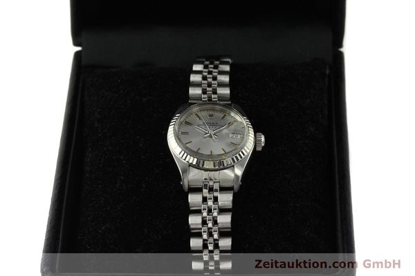 Used luxury watch Rolex Lady Date steel / white gold automatic Kal. 2030 Ref. 6917  | 142722 07