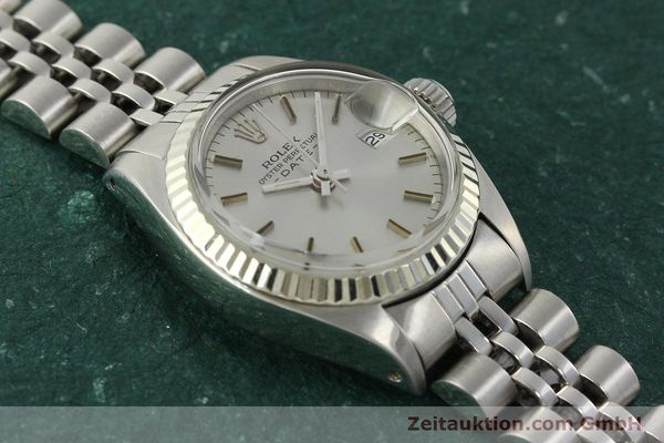 Used luxury watch Rolex Lady Date steel / white gold automatic Kal. 2030 Ref. 6917  | 142722 15