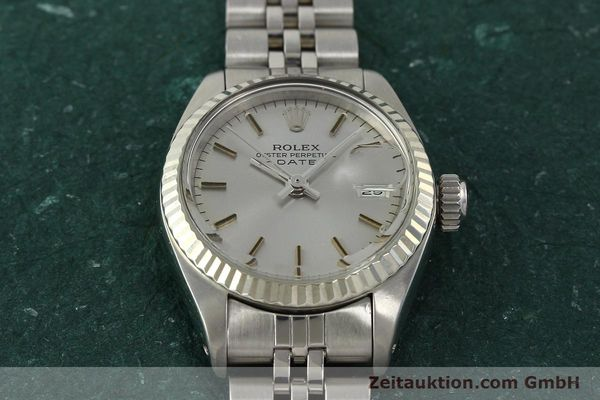 Used luxury watch Rolex Lady Date steel / white gold automatic Kal. 2030 Ref. 6917  | 142722 16