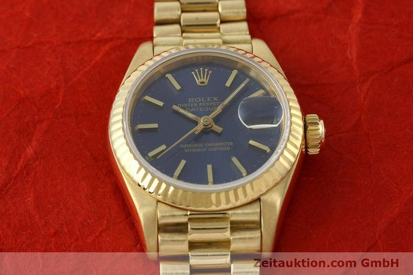 Used luxury watch Rolex Lady Datejust 18 ct gold automatic Kal. 2135 Ref. 69178  | 142724 19
