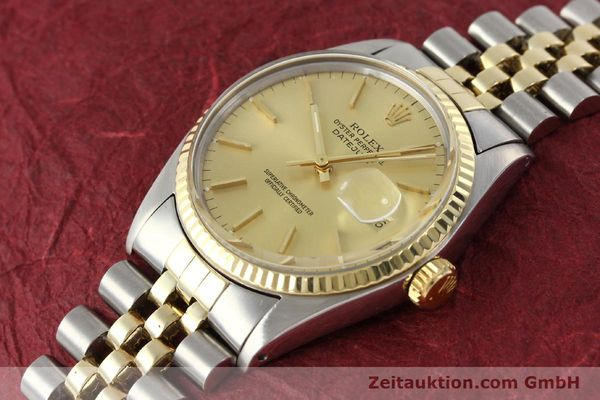 Used luxury watch Rolex Datejust steel / gold automatic Kal. 3035 Ref. 16013  | 142725 01