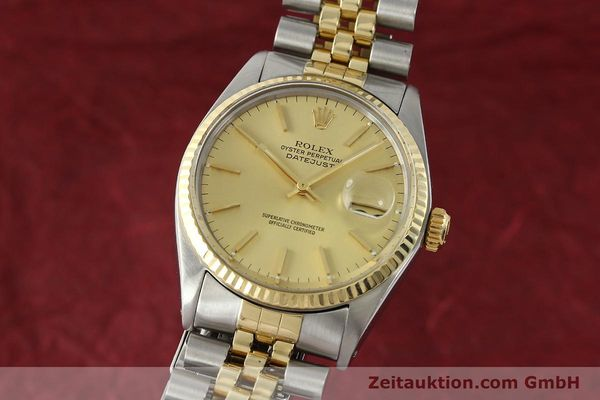 Used luxury watch Rolex Datejust steel / gold automatic Kal. 3035 Ref. 16013  | 142725 04
