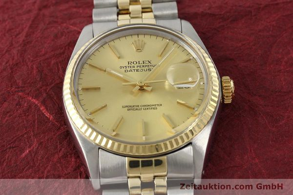 Used luxury watch Rolex Datejust steel / gold automatic Kal. 3035 Ref. 16013  | 142725 15