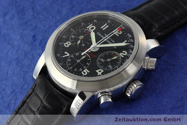 Used luxury watch Girard Perregaux Ferrari chronograph steel automatic Kal. 2528OU-781 Ref. 8090  | 142729 01