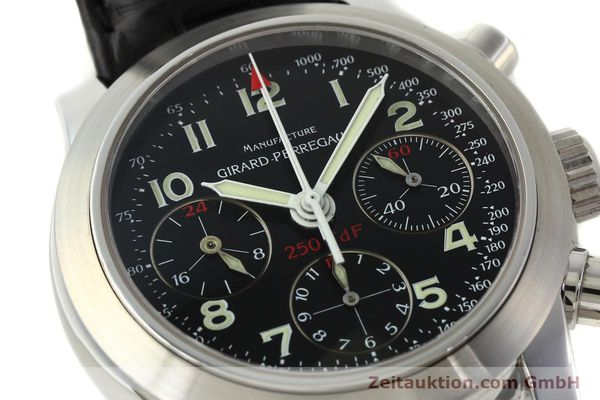 Used luxury watch Girard Perregaux Ferrari chronograph steel automatic Kal. 2528OU-781 Ref. 8090  | 142729 02
